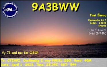 9A3BWW_eQSL